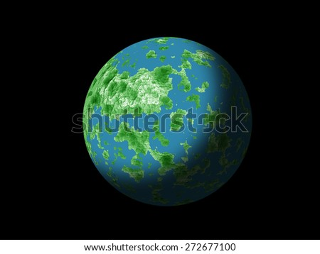 Blue planet in space - stock photo