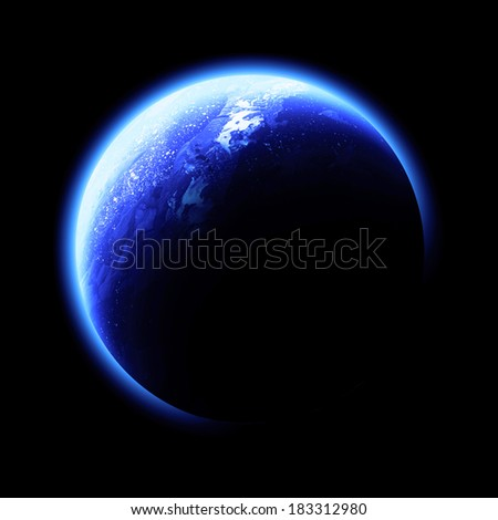 Blue Planet Isolated - Elements of this image furnished by NASA