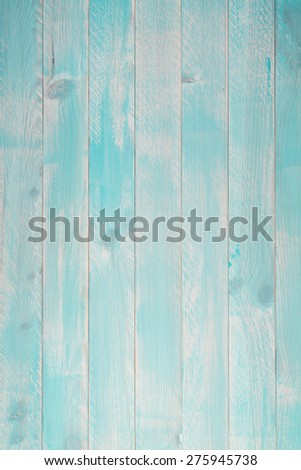 Blue plank wood texture background. - stock photo
