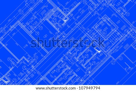 Blue plans - stock photo