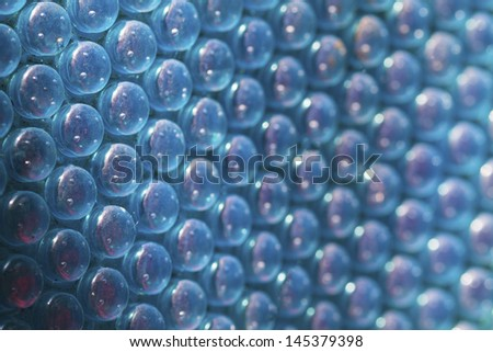 Blue plastic bubble packing material - stock photo