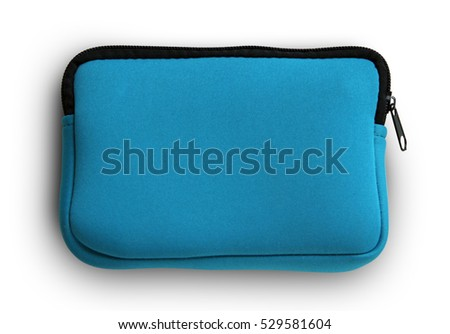 Blue pocket bag isolate on white background