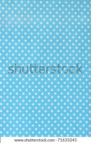 Blue polka dot fabric