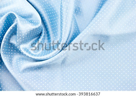 Blue Polka dots fabric pleated texture background