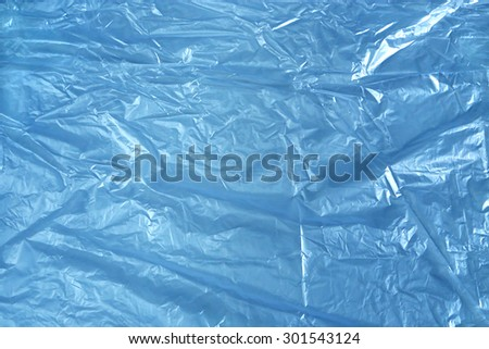 Blue polyethylene texture - stock photo