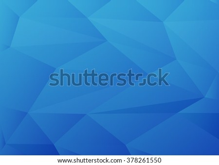 Blue Polygonal Mosaic Background. Abstract blue background with triangle. Creative Design Templates - stock photo