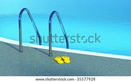 blue pool - stock photo