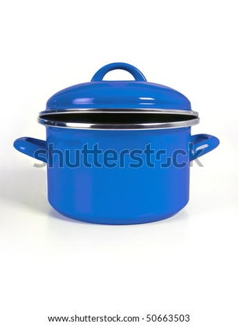 blue pot - stock photo