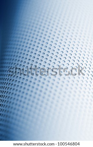 Blue punched hole mesh background - stock photo