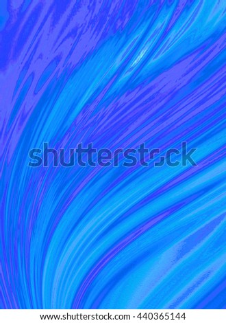 Blue purple background of incident waves covered divergent washouts   - stock photo