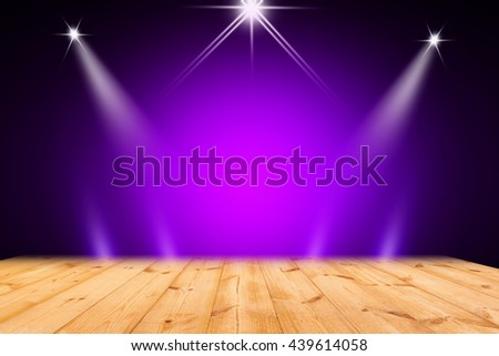 Blue purple stage background - stock photo