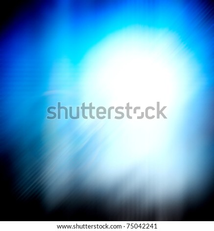 Blue radiance abstract background - stock photo