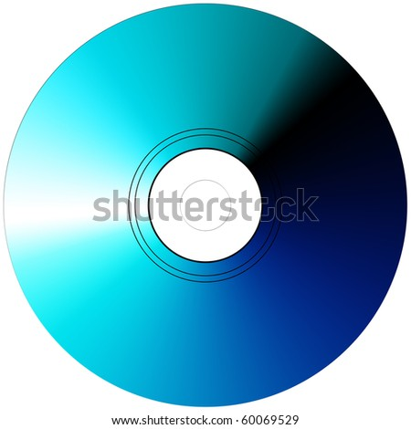 Blue Ray Compact Disc, blue color - stock photo