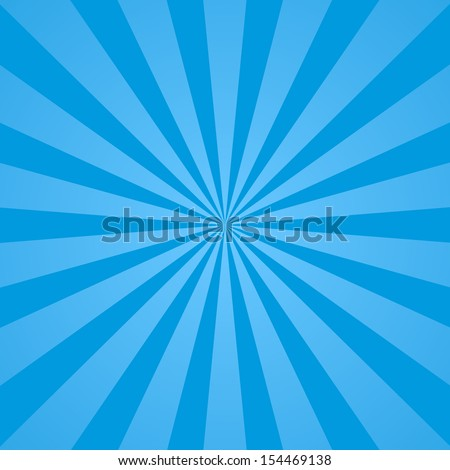 Blue rays background. Illustration for your bright beams design. Sun theme abstract wallpaper. Raster version. - stock photo