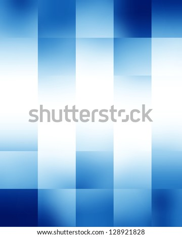 Blue rectangular glowing blocks background with some soft highlights - stock photo