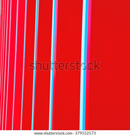 blue red  abstract metal in englan london railing steel and background