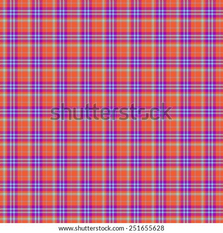 Blue, red seamless tartan cloth pattern textures - stock photo