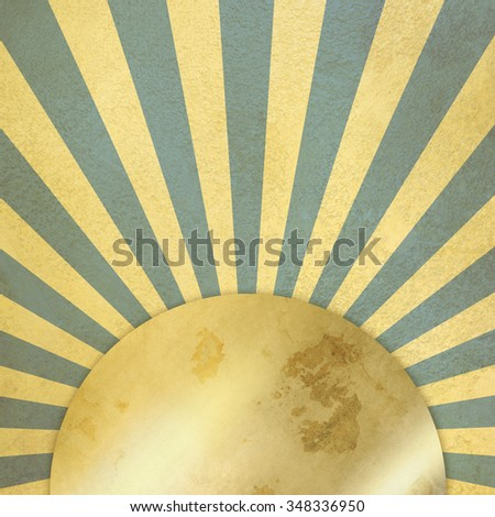 Blue retro background - vintage starburst - stock photo