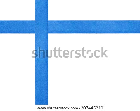 blue ribbon cross template isolated, just put bow on it - stock photo