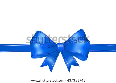 blue ribbon white background