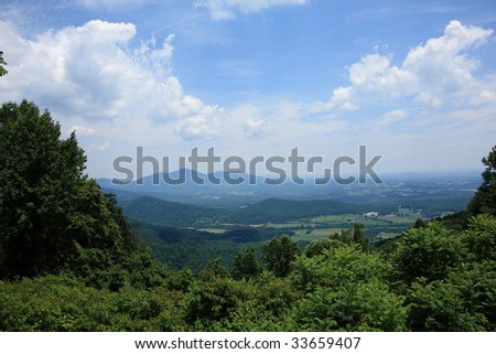 Blue Ridge Mountains - Virginia - stock photo