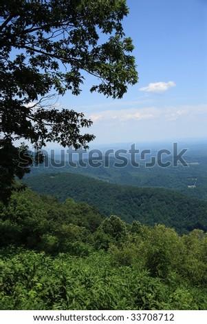 Blue Ridge Mountains - Virginia - stock photo