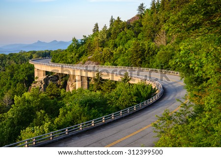 Blue Ridge Parkway - stock photo