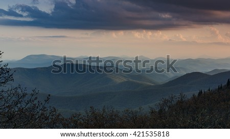 Blue Ridge Parkway Mountains in NC.