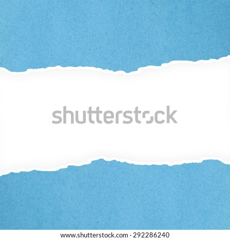 Blue riped paper background. - stock photo