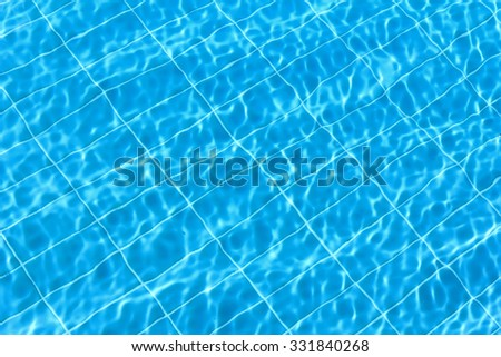 Blue rippling water in a swimming pool as a background