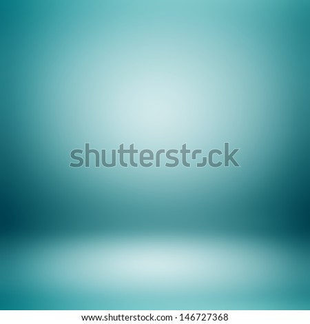 Blue room abstract background - stock photo