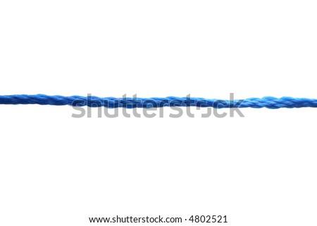 blue rope on white background - stock photo