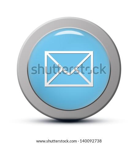 blue round Icon series : Email button - stock photo
