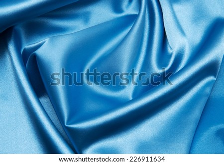 blue satin - stock photo