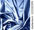 blue satin background closse up - stock photo