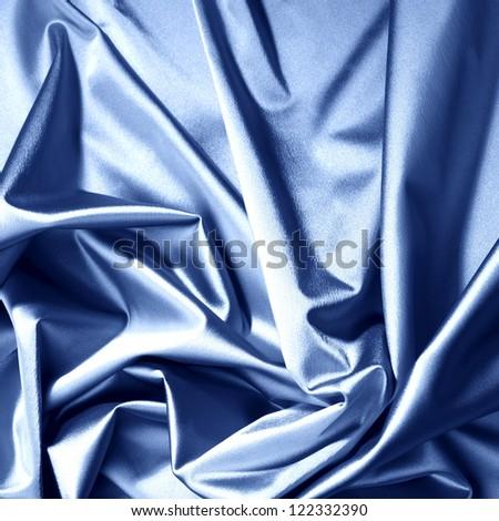 blue satin background closse up - stock photo