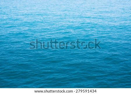 Blue sea  - stock photo