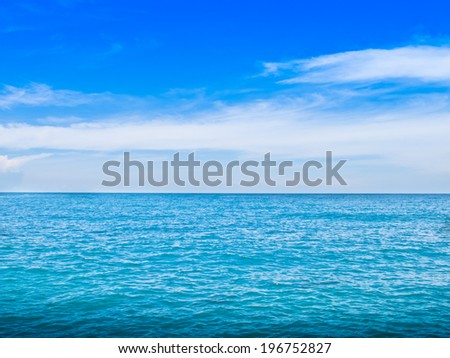 Blue sea and Blue sky