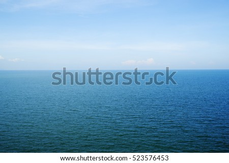 Blue sea and sky background photo stock