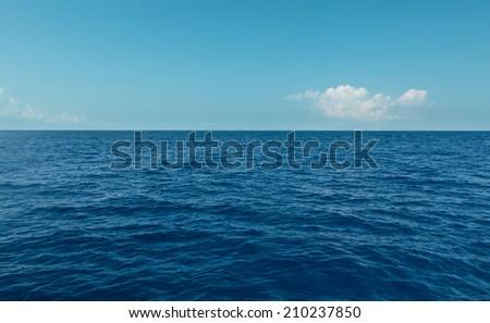 Blue sea and the sky - stock photo