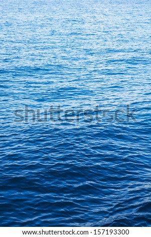 Blue sea surface with waves - stock photo