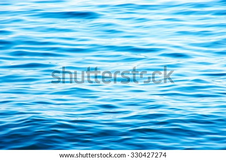 Blue sea water background - stock photo