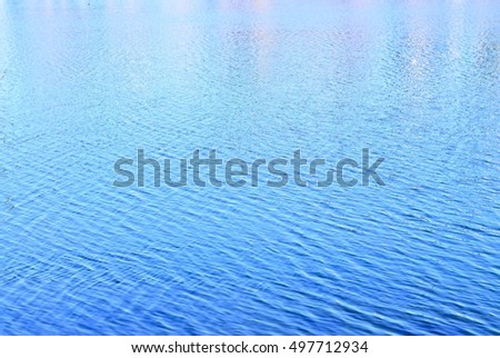 Blue sea water ripple pattern texture background