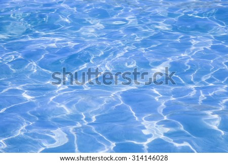 Blue sea water, solar reflection, texture