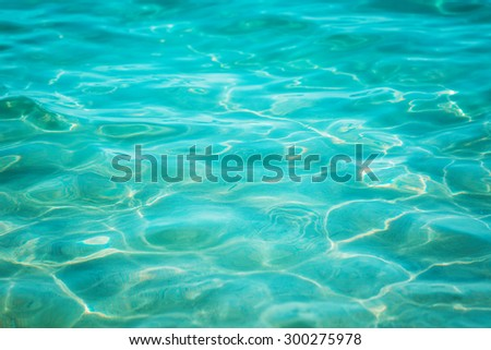 Blue sea water surface background - stock photo