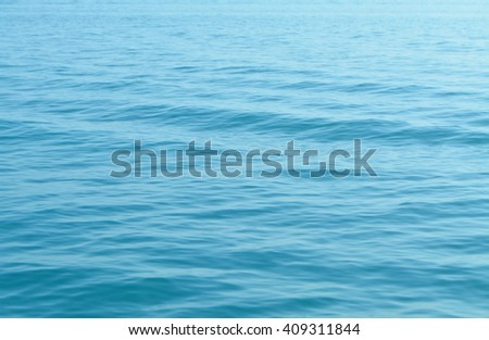 Blue sea water texture background - stock photo