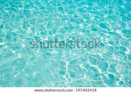 Blue sea wave ripple curl water surface texture. Summer holiday relax background with copy space.