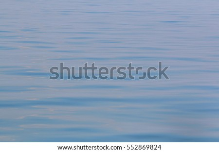 Blue sea waves surface abstract background pattern.