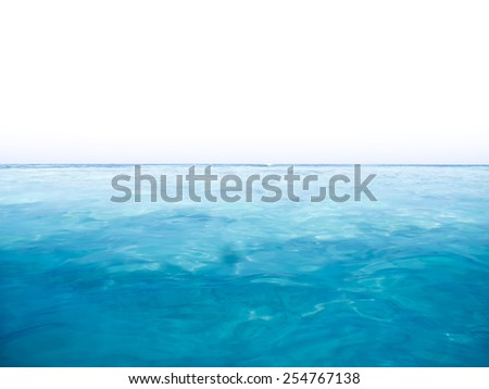 Blue sea with exposure background - stock photo