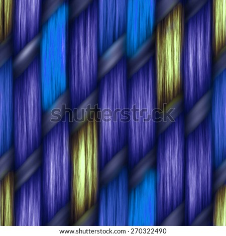 blue seamless weaving texture pattern wood  or hair - stock photo
